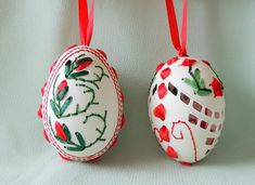 Embroidered goose egg