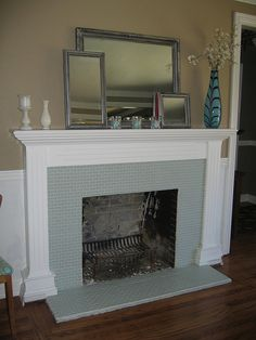 Fireplace redo...it can be done. Mine would be cuter though