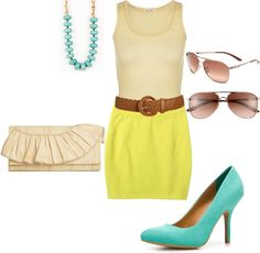 summer, created by nonchalant-style on Polyvore