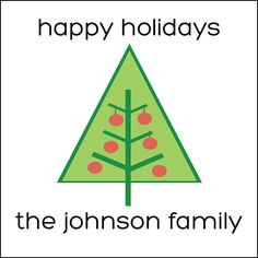 Personalized Holiday Labels Mid-Modern Christmas Tree Motif by #GothamPops on Etsy