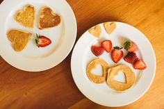 Garlic, My Soul | Hearts for Breakfast #pancakes #Valentine's Day #hearts