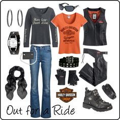 What a great Harley-Davidson inspired look for the biker chick.  www.throttlexbatteries.com for all your battery needs.