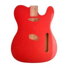 Candy Apple Red Ash Double Cream Bound Rockaudio Vintage Series Guitar – Rockaudio.com