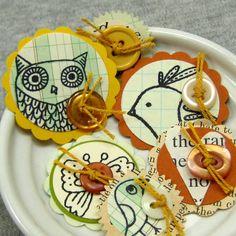 cute bird tags = felt brooches? share cute things at www.sharecute.com