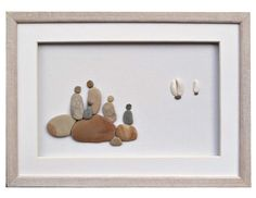 Personalized family gift Pebble Art Family of by PebbleArtDream
