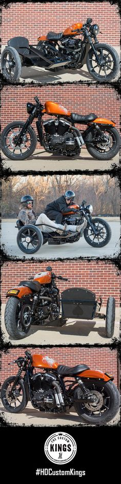Maverick Harley-Davidson's build features a modernized sidecar modeled after the vintage style racers from the past.   Harley-Davidson #HDCustomKings