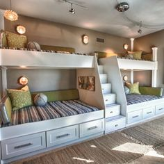 dimensions of built in bunk beds - Google Search