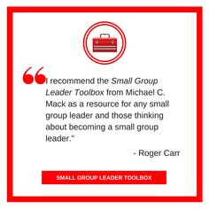 #SGTOOLBOX recommendation from @smallgroup7 Get this eBook now thru 12/31 for discounted price! https://smallgroupleadership.com/product/small-group-leader-toolbox/