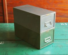 Steelmaster Stacking Metal File Card Cabinets Mid by BingoBox, $40.00