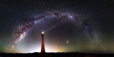"""From Imgur: """"This is a 58 shot, 150MP image I took recently of the Milky Way over Guilderton Lighthouse in Western Australia."""""""
