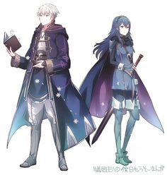 Robin and Lucina from fire emblem
