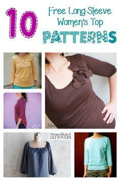 viele kostenlose Schnittmuster und Anleitungen für Shirts, Röcke, Kleider usw.
