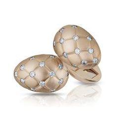 Fabergé Treillage Cufflinks Diamond Rose Gold Matt