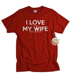 I LOVE it when MY WIFE® Brand T-shirt - Jogging    I love my wife, but you really do have to read between the lines :) Great gift for the jogger in