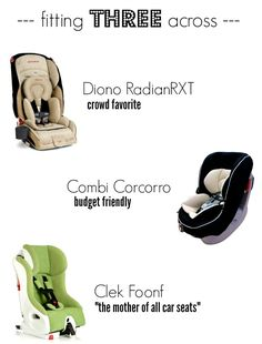 The skinny on skinny car seats - perfect for 3 across and extended car seat usage