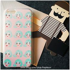 So Many Girls Face Designed SOFT silicon iPhone case by PopDecor