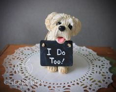 Dog Cake Toppers  Made To Look Like Your Pet  by CherryRedToppers, $60.00