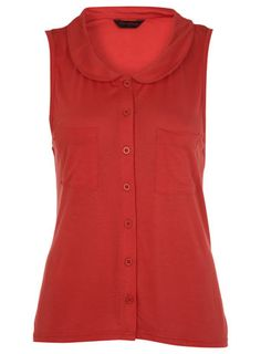 RED PETERPAN SLEEVELESS SHIRT Was£20.00 Now£10.00