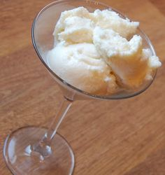 Snow Ice Cream! Only takes 3 ingredients, for chocolate just add some cocoa!