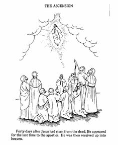 Easter Bible Coloring page - Ascension of Jesus