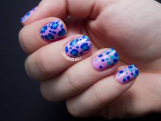 mix up dots on each nail