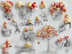 #poramaisb - Espuma de café, cascas, sementes, objetos e poesia com humor na arte do cotidiano de Victor Nunes #victornunes