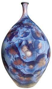 Edmund Deinböck (Swiss)   Céramique avec glaçures à cristallisation.