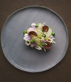 Troy Rhoades-Brown from Muse Dining and Muse Kitchen shares his Pepperberry and Wattleseed Smoked Pork Loin, Lardo, Fennel, Apple, Cucumber and Yoghurt recipe.