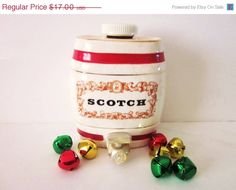 ON SALE Collectible Wade Gilbey Royal Victoria Pottery Scotch Keg Decanter.