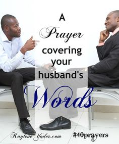 Father, Do not let unwholesome talk come out of his mouth, but only what is helpful for building others up according to their needs. (Eph.4:29) Amen. #40prayers #marriage #prayer