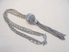 Vintage STUNNING Tassel Pendant Necklace 55 Grams by KathiJanes