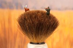 'Shaving Brush Savanna'. | 10 Enchanting Miniature Scenes Made From Household Objects #Miniatures