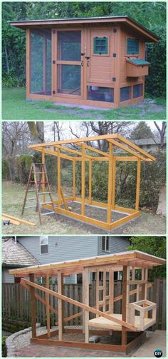 Chicken Coop - DIY Wichita Cabin Coop Free Plan Instructions - DIY Wood Chicken Coop Free Plans Building a chicken coop does not have to be tricky nor does it have to set you back a ton of scratch. Chicken Coop Designs, Chicken Coop Kit, Cheap Chicken Coops, Chicken Barn, Diy Chicken Coop Plans, Portable Chicken Coop, Best Chicken Coop, Backyard Chicken Coops, Building A Chicken Coop