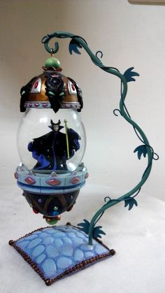 Sleeping Beauty Malficent ornament snowglobe Retired