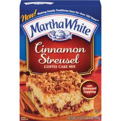 Martha White Cinnamon Streusel Coffee Cake Mix With Streusel Topping, 21 oz