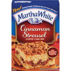 Martha White Cinnamon Streusel Coffee Cake Mix With Streusel Topping, 21 oz