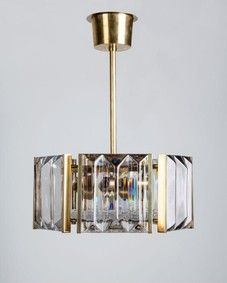 Orrefors Glass Pendant, Circa 1960, from Remains Lighting
