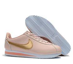 best service 3c7cd d9b2b nike classic cortez sneakers Gold Top, Pink And Gold, Nike Classic Cortez,  Pink