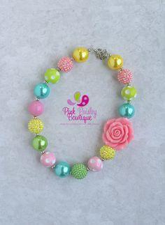 Jewerly Necklace Chunky Photo Props 22 New Ideas Little Girl Jewelry, Baby Jewelry, Kids Jewelry, Jewelry Crafts, Jewelry Making, Chunky Bead Necklaces, Chunky Beads, Kids Bracelets, Beaded Bracelets