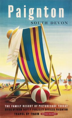 Topsail Island, North Carolina - Beach Chair and Ball - Lantern Press Artwork Giclee Art Print, Gallery Framed, Espresso Wood), Multi Vintage Films, Vintage Travel Posters, British Railways, British Isles, Party Vintage, Vintage Decor, Vintage Art, Indiana Dunes, Indiana Beach