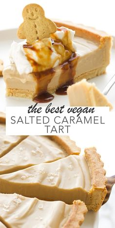 The Best Vegan Salted Caramel Tart An easy to make almond oat shell with the creamiest and most delicious salted caramel filling! Gluten free if you can have oats or find gluten free oats and 10 ingredients. - The Best Vegan Salted Caramel Tart Desserts Végétaliens, Vegan Sweets, Healthy Dessert Recipes, Cake Recipes, Vegan Recipes, Appetizer Recipes, Best Vegan Desserts, Appetizer Dessert, Vegetarian Desserts