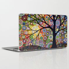 Abstract+Landscape+Original+Painting...VISIONS+OF+NIGHT,+by+Amy+Giacomelli+Laptop+&+iPad+Skin+by+Amy+Giacomelli+-+$30.00