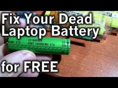 DIY: Repairing a 15 Year Old Computer Laptop Battery for Free! Create a Replacement! - YouTube