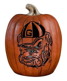 Take a look at this Georgia Bulldog Pumpkin by Cumberland Designs on #zulily today!