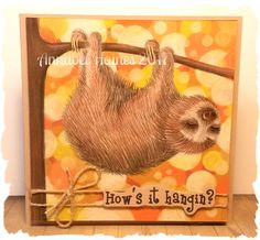 For The Crafty Addicts Challenge Blog October -  Slow is good from Sheepski Designs @Cartway Cards
