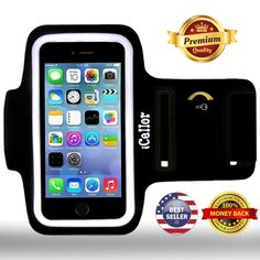 Sports Armband for iPhone 6 (4.7 inch Screen Size) with Key Holder – Best Anti-slip, Sweat Resistant, Exercise Armbands – Complete Adjustable & Lightweight for Running , Biking , Jogging , Walking , Workout and Other Sports Activities- For Men & Women [Lifetime Guarantee]