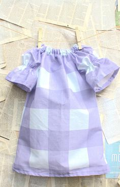 Lavender Gingham Dress