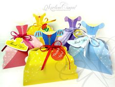 HUGE Boxes 5 Princess Dress INSPIRED - PRINTABLE - Paper Art by Marlene Campos. $22.00, via Etsy.
