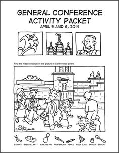 Download and print free General Conference coloring packets for the kiddos! Courtesy of Arie Van De Graff and LDSBookstore.com