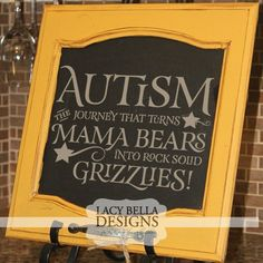 This vinyl wall design makes for a wonderful gift of encouragement to that warrior mom fighting the autism battle. We have had many uses of this wall decal sticker, pictured it was placed on a painted refurbished cabinet door. Others have used this unique vinyl lettering sticker autism quote to decorate the walls of therapy offices, doctor offices, fundraisers, and in their own homes as daily encouragement. See more autism quotes and designs at www.lacybella.com